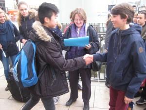 Das erste Kennenlernen der Austauschschüler